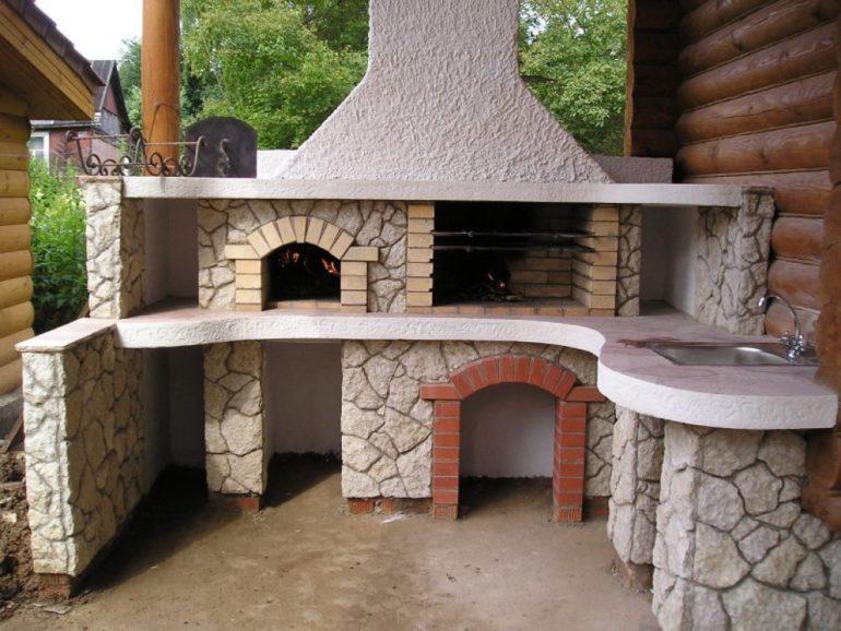 Комбинированная печь для летней кухни