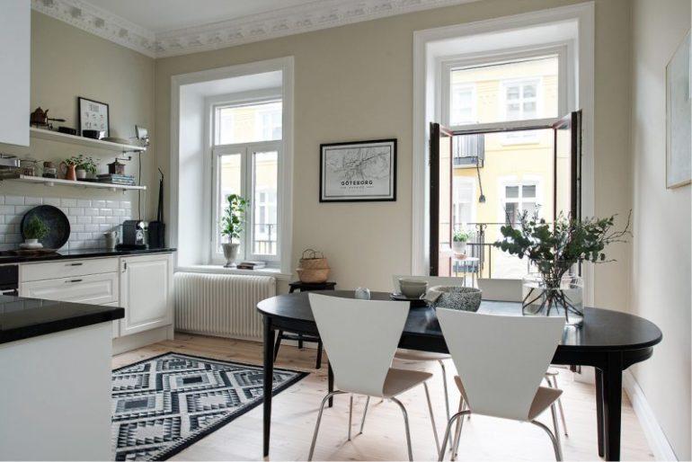 Пространство площадью 16 кв. метров позволяет выбирать варианты планировки, цветовые гаммы и техническое оснащение кухни