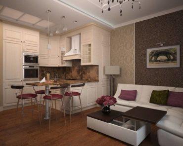 Кухня-гостиная 14 кв