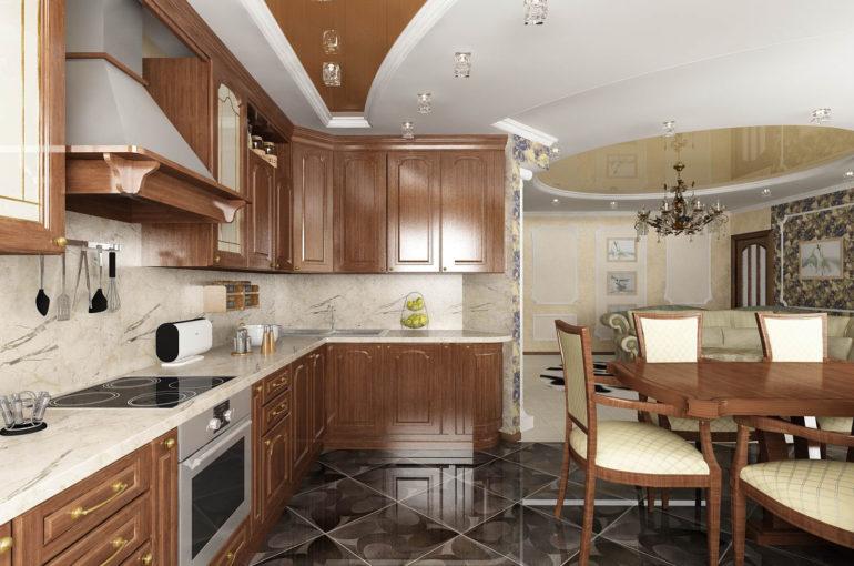 Обеденная зона на кухне – популярный вариант планировки, ведь гораздо удобнее кушать рядом с местом готовки, чем носить пищу в другую комнату