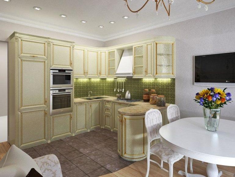 С-образный кухонный гарнитур