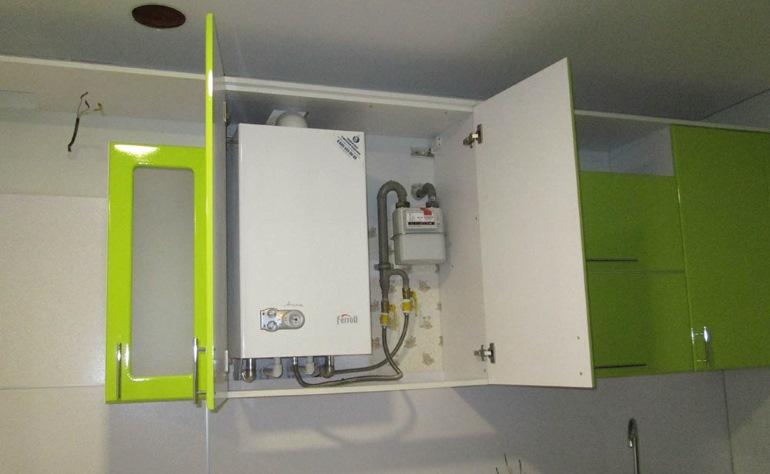 Мебель изготовлена с учетом установки газового оборудования