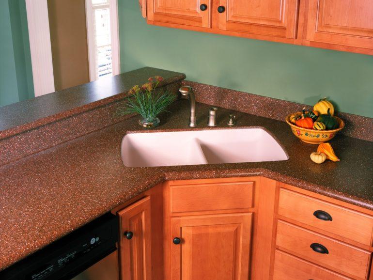 Акриловая столешница – практичное, красивое и выгодное решение для кухни