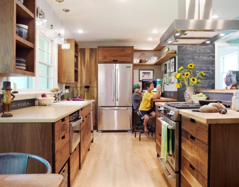 Экостиль приносит на кухню близость природы, живую энергию и умиротворенность