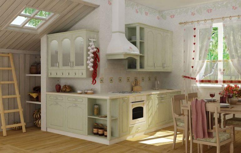 Если кухонное пространство имеет замысловатую конфигурацию, тщательнее продумайте обустройство проблемных участков