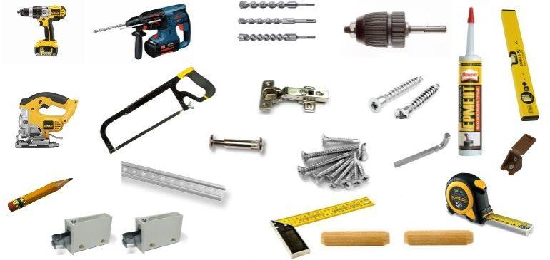 Для самостоятельной сборки гарнитура подготовьте инструменты и расходные материалы