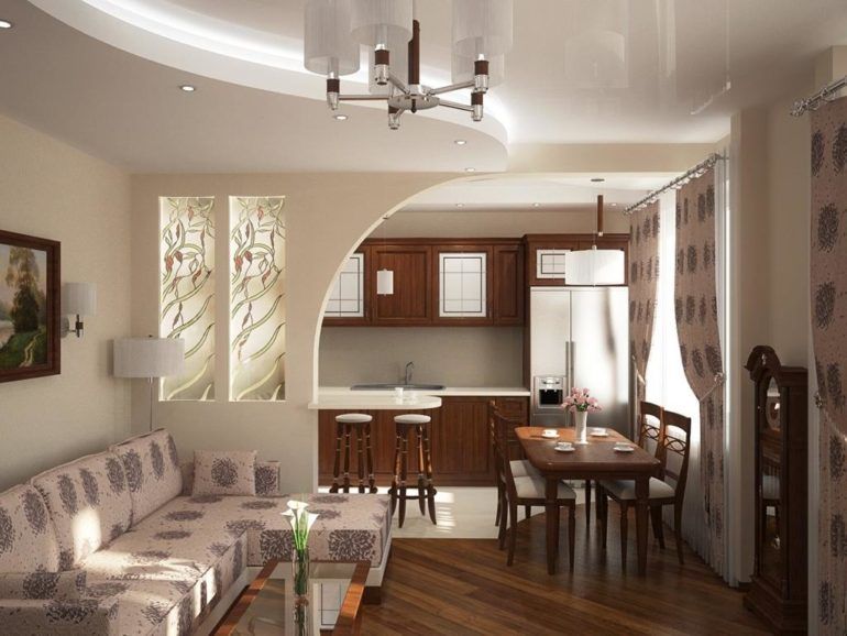 Посмотрите, как легкая и простая перегородка из гипсокартона может изменить дизайн кухни гостиной