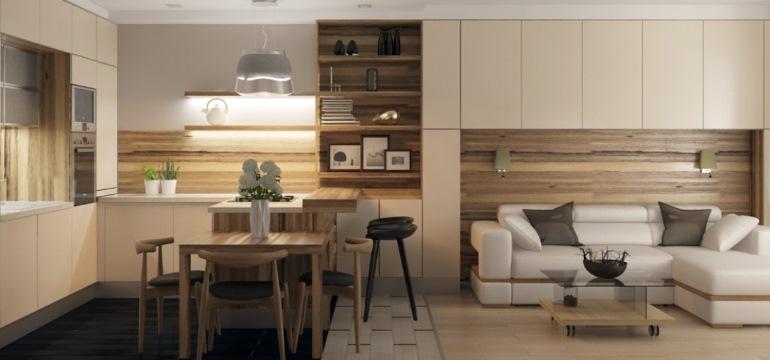 Оформление кухни-гостиной 20 кв. метров