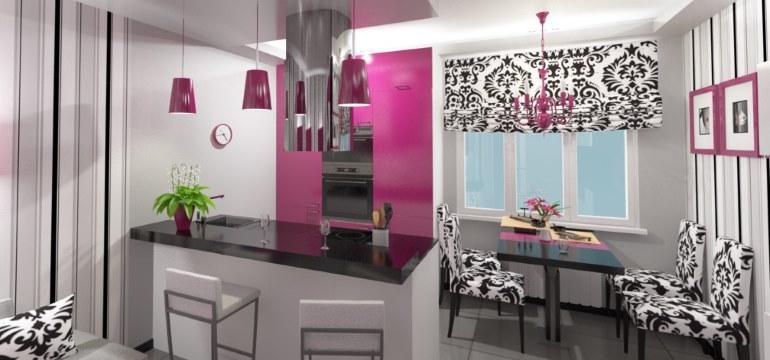 Интерьер кухни гостиной 18 кв. метров
