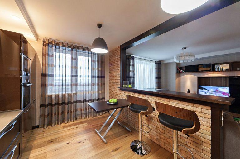 Для своей барной стойки вы можете выбрать встроенную, раздвижную, поворотную или поднимающуюся конструкцию