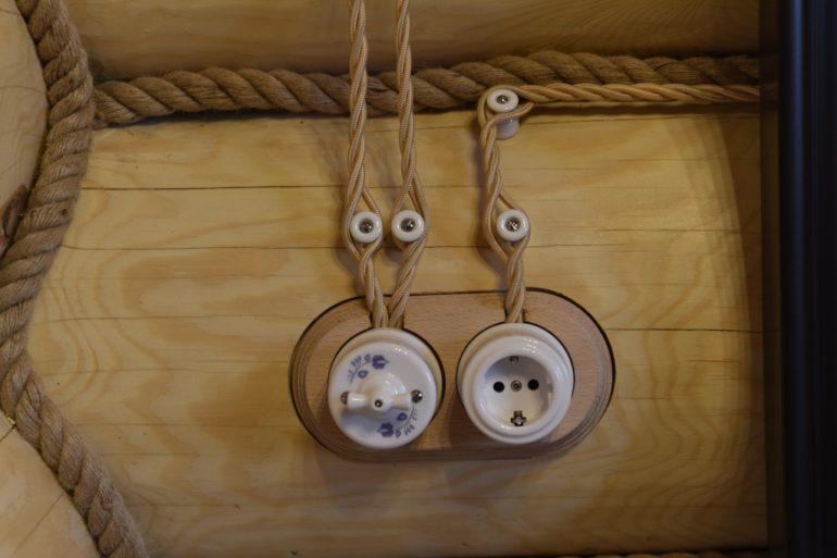 Электропроводка в стиле ретро