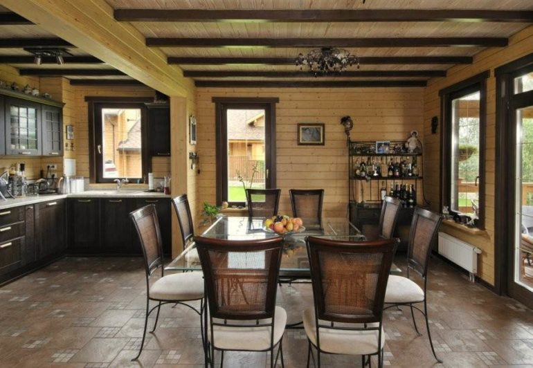 Подбирая мебель для кухни-гостиной, необходимо придерживаться стилевого направления кухонного помещения