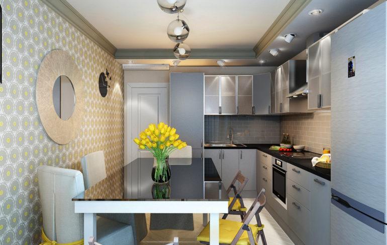 Продумать дизайн небольшой кухни в панельном доме достаточно сложно, придется найти золотую середину между функциональностью и свободой передвижения