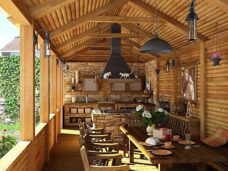 Постройки из древесины выглядят легкими и изящными