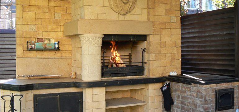 Печь барбекю для летней кухни