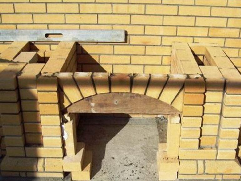 Возведение арки с помощью шаблона