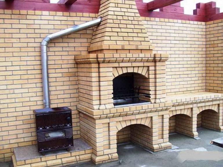 Комбинированная печь для барбекю