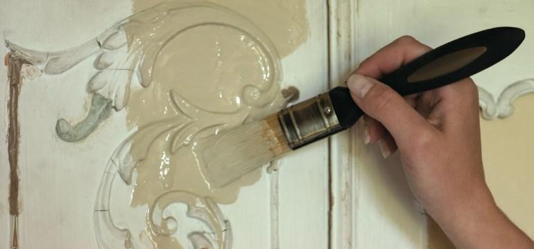 Покраска кухонных фасадов своими руками
