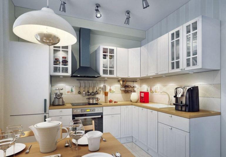 Комфортный свет на кухне – это многоуровневое освещение, когда в каждой кухонной зоне есть свой светильник