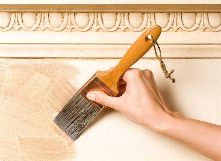 Окрашивание деревянного фасада глизалью