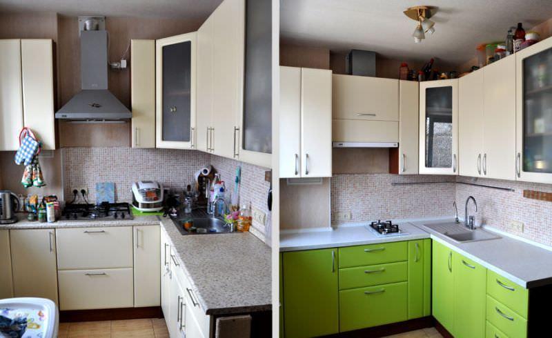 Вернуть кухонному гарнитуру презентабельный вид под силу каждой хозяйке, при том сделать это можно с наименьшими затратами