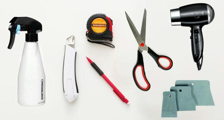 Инструменты для работы с самоклеющейся пленкой
