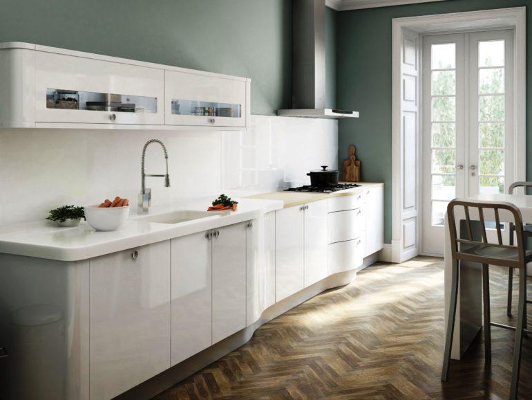Линейная планировка современной кухни