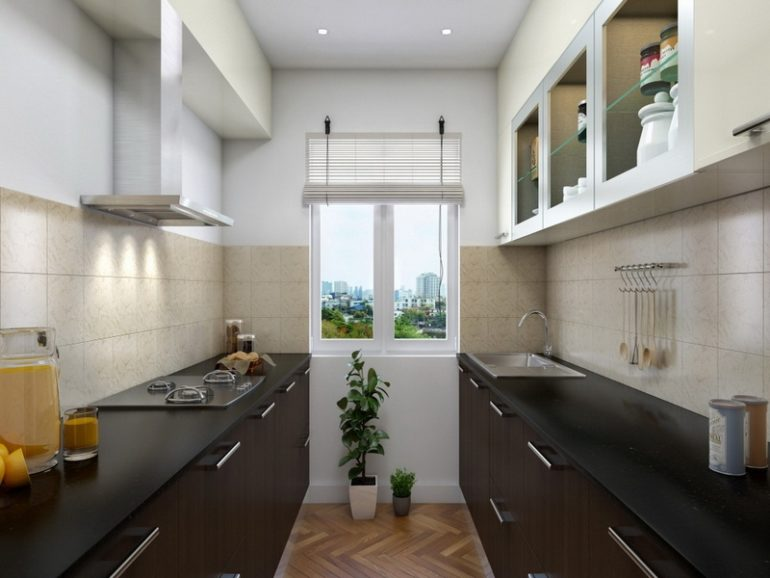 Двухрядная (параллельная) планировка кухни